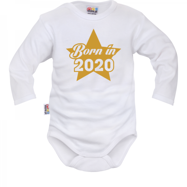 DEJNA Body dlouhý rukáv Born in 2020 - bílé, vel. 74