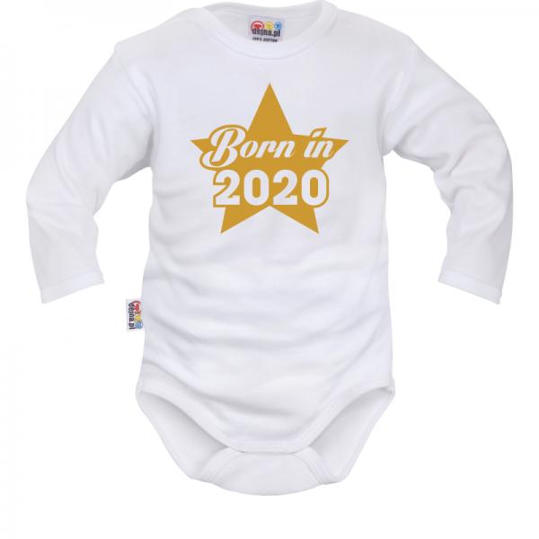 DEJNA Body dlouhý rukáv Born in 2020 - bílé, vel. 80