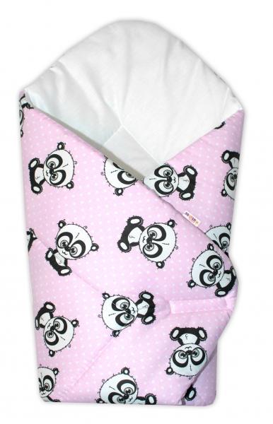 Novorozenecká zavinovačka Cute Animals, 75x75 cm, Baby Nellys - růžová