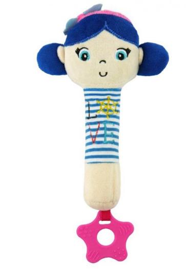 BABY MIX Edukační hračka pískací s kousátkem Námořník - Holčička/růžová