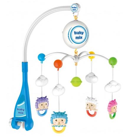 BABY MIX Elektrický kolotoč nad postýlku Ovečky