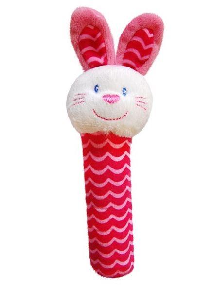 BOBA BABY Edukační plyšová hračka pískací  - králíček, 1 ks