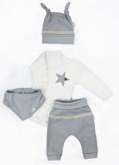 NICOL Sváteční komplet oblečení STAR - 4 dílný ,šedý, vel. 62