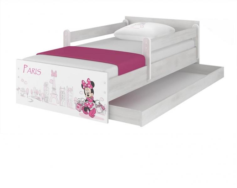 BabyBoo Dětská postel Disney - MAX Minnie Paris - s matrací, 160 x 80 cm