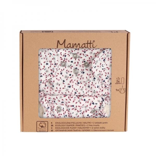 Mamatti Látková plenka EKO sada - kalhotky + 2 x plenka, vel. 5 - 14 kg, Mouse