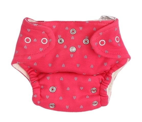 Mamatti Látková plenka EKO sada - kalhotky + 2 x plenka, vel. 3 - 8 kg, Hearts