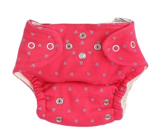 Mamatti Látková plenka EKO sada - kalhotky + 2 x plenka, vel. 5 - 14 kg, Hearts