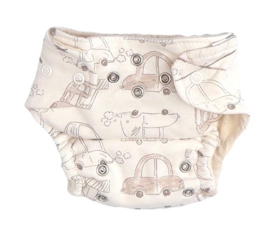 Mamatti Látková plenka EKO sada - kalhotky + 2 x plenka, vel. 3 - 8 kg, Car