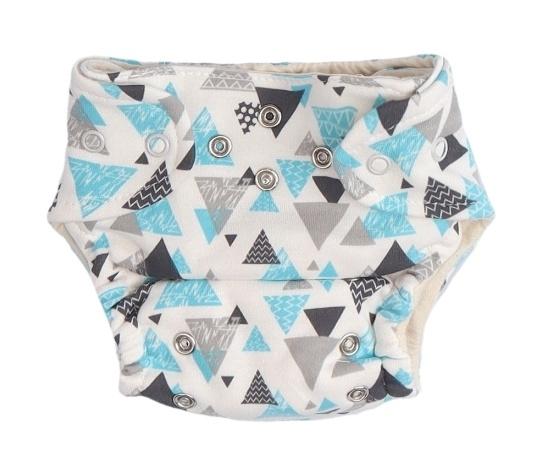 Mamatti Látková plenka EKO sada - kalhotky + 2 x plenka, vel. 3 - 8 kg, Cool