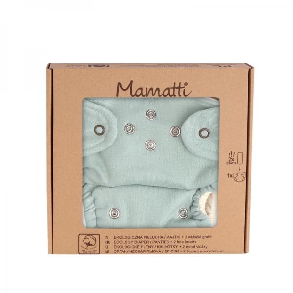 Mamatti Látková plenka EKO sada - kalhotky + 2 x plenka, vel. 5 - 14 kg, Dino