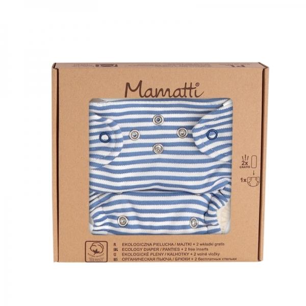Mamatti Látková plenka EKO sada - kalhotky + 2 x plenka, vel. 5 - 14 kg, World