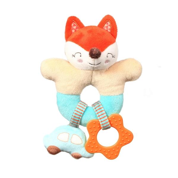 BabyOno Plyšové chrastítko s kousátkem - Fox Vincent