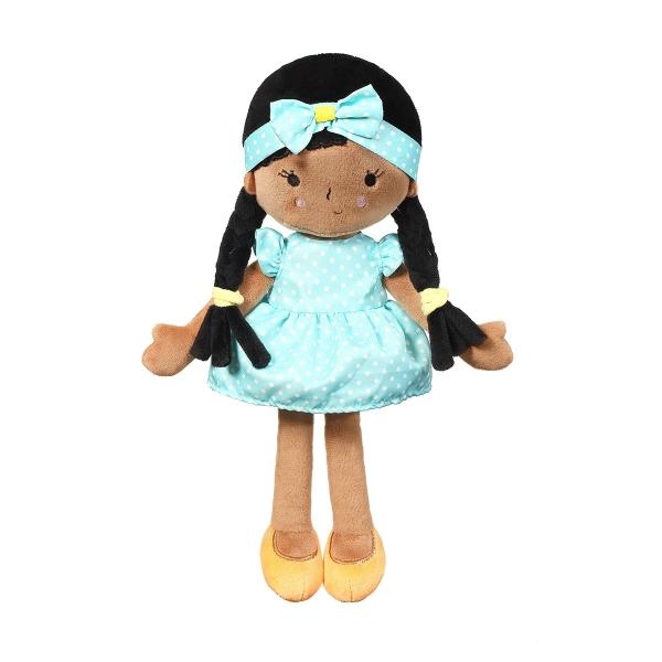 Hadrová panenka BabyOno Zoe Doll My Best Friend - tyrkysová