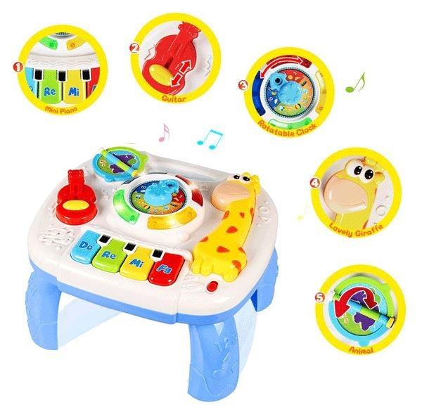 Dětský hrající stoleček 2 v 1 - Žirafka