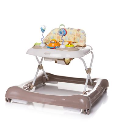 4 BABY Chodítko Steps - hnědé