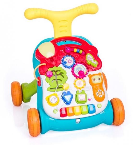 Dětské interaktivní chodítko 3 v 1 - zelené