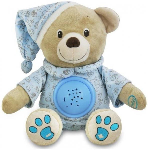 Plyšový medvídek s projektorem Baby Mix - modrý