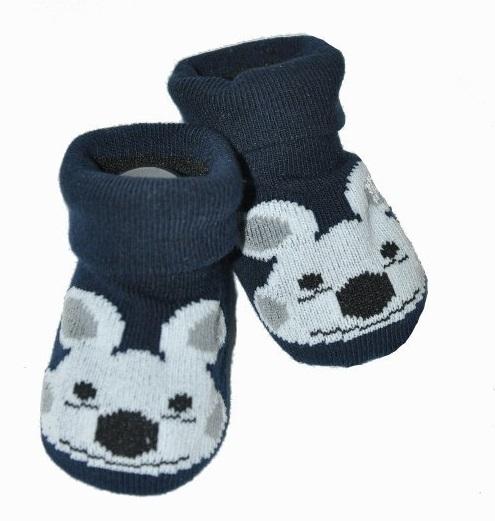 Kojenecké ponožky, 0 - 12 m, Risocks - Pejsek, černé