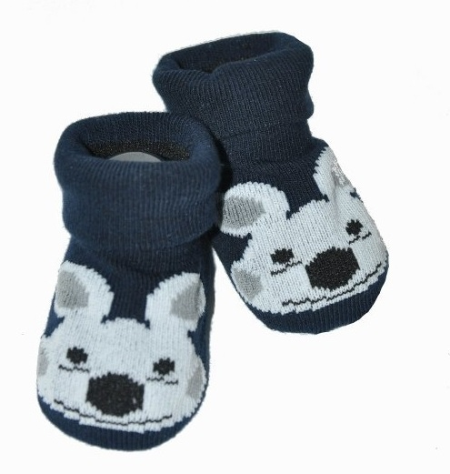 Kojenecké ponožky Risocks protiskluzové - Pejsek, černá, 12-24 m