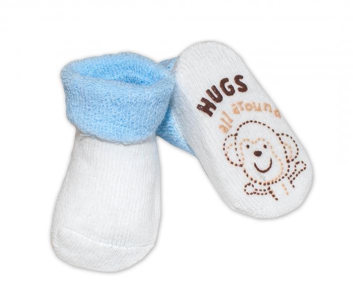 Kojenecké ponožky 0-6m, Risocks různé motivy - sv. modrá