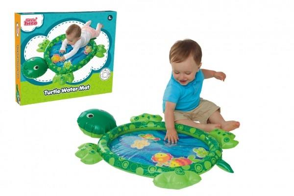 Zábavná vodní podložka želva nafukovací 84x61cm s doplňky 5ks v krabici 29x24x5cm 6m+
