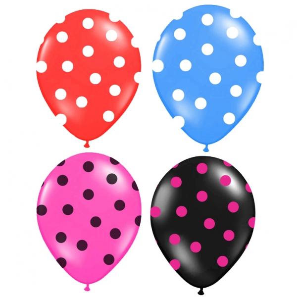 Balónek nafukovací s potiskem 30 cm, 3 ks, 4 barvy