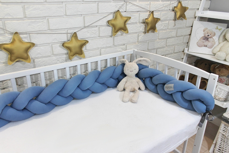 Mantinel Baby Nellys pletený cop - tmavě modrý