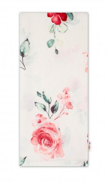 Baby Nellys Flanelová plenka, 70x80cm Evelína - Květinky růžové