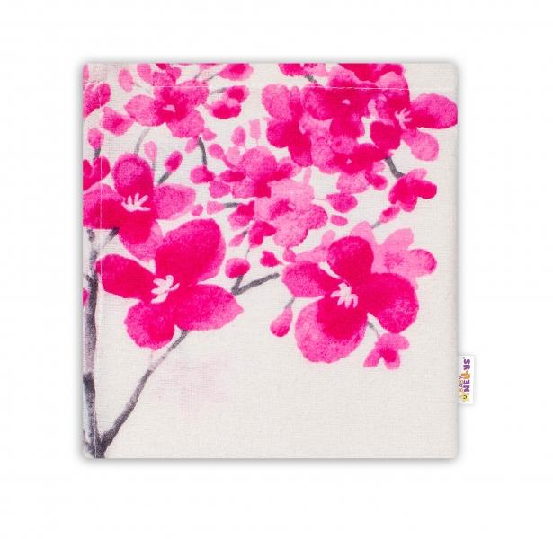 Baby Nellys Mini flanelová plenka 40 x 40 cm Laura - Květy