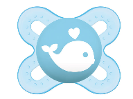 Symetrický dudlík Mam Start Boy - Velryba, modrá