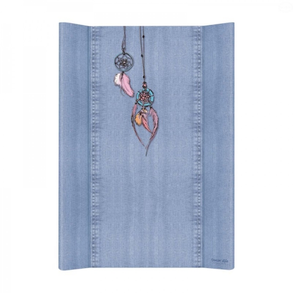 Přebalovací podložka Ceba, tvrdá - na postýlku 120x60 cm, Denim Catcher - jeans
