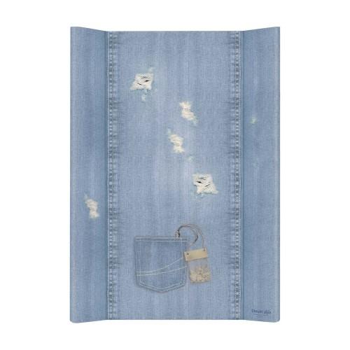 Přebalovací podložka Ceba, tvrdá - na postýlku 120x60 cm, Denim Shabby - jeans