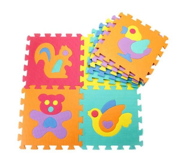 Pěnové puzzle zvířátka, 10 ks, 29 x 29 x 0,9 cm - zvířátka