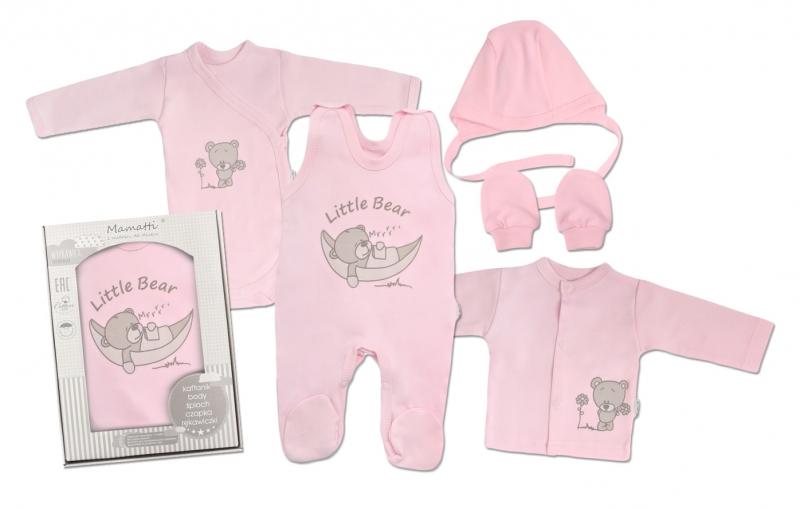 Mamatti Novorozenecká sada do porodnice, růžová - Medvídek, vel. 62, Velikost: 62 (2-3m)