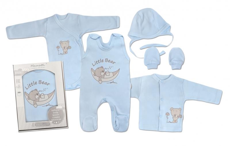 Mamatti Novorozenecká sada do porodnice, modrá - Medvídek, vel. 62, Velikost: 62 (2-3m)