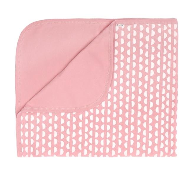 Mamatti Dětská oboustranná bavlněná deka, dečka Hello - 80 x 90 cm - korálová, vzor
