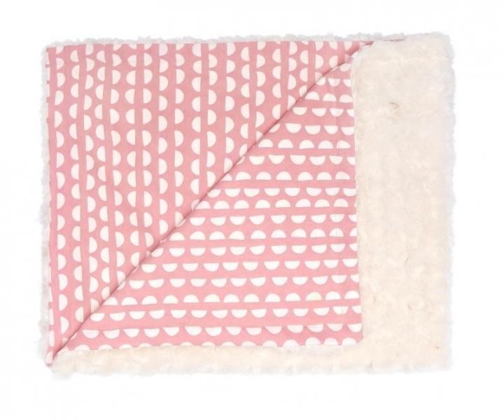 Mamatti Dětská deka, dečka minky, bavlna Hello, 75 x 90 cm - smetanová, korál