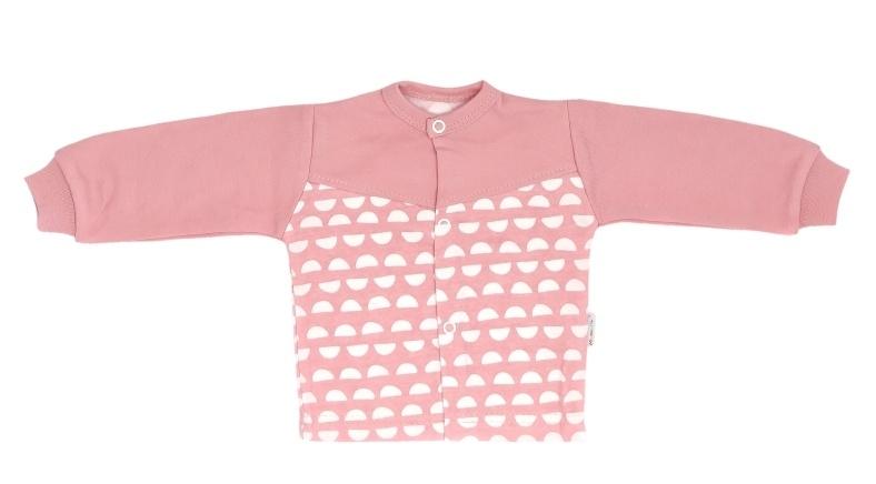 Mamatti Novozenecká bavlněná košilka, kabátek Hello - korálová, vel. 68