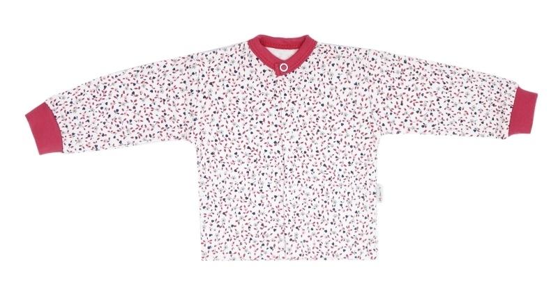 Mamatti Novozenecká bavlněná košilka, kabátek Mouse - mini květinky, vel. 68