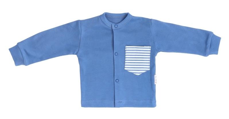 Mamatti Novozenecká bavlněná košilka, kabátek World - modrá, vel. 74
