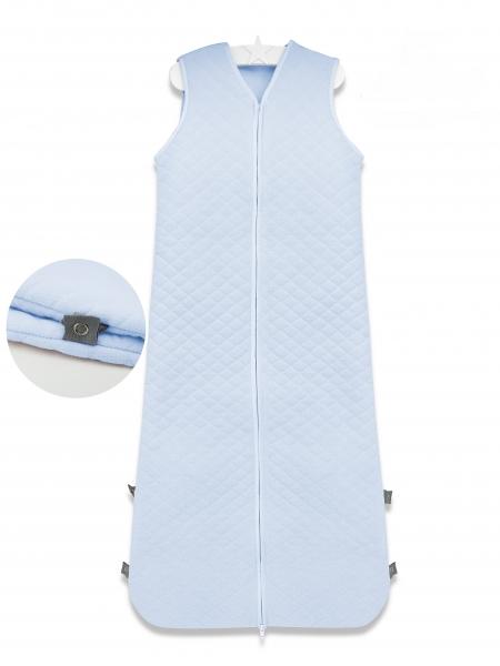 Baby Nellys Spací vak Velvet prošívaný (85 - 106 cm) - modrý