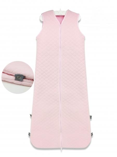 Baby Nellys Spací vak Velvet prošívaný (85 - 106 cm) - růžový