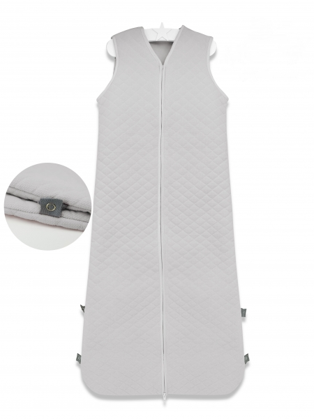 Baby Nellys Spací vak Velvet prošívaný (85 - 106 cm) - šedý