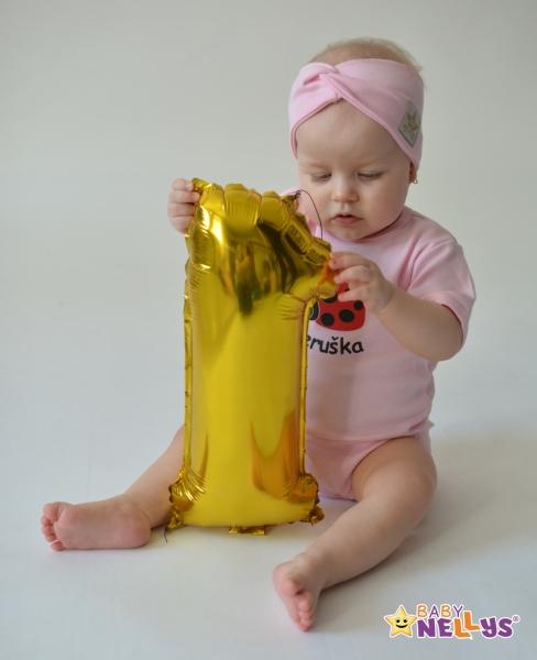 Baby Nellys Hand Made Jarní, bavlněná čelenka - dvouvrstvá, sv. růžová, 1-3 roky