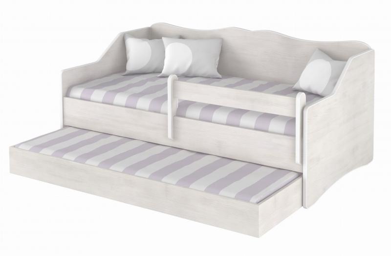 BabyBoo Dětská postel LULU 160 x 80 cm - bílá surf