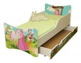 NELLYS Dětská postel a šuplík/y se zábranou Princezna - 160x90 cm