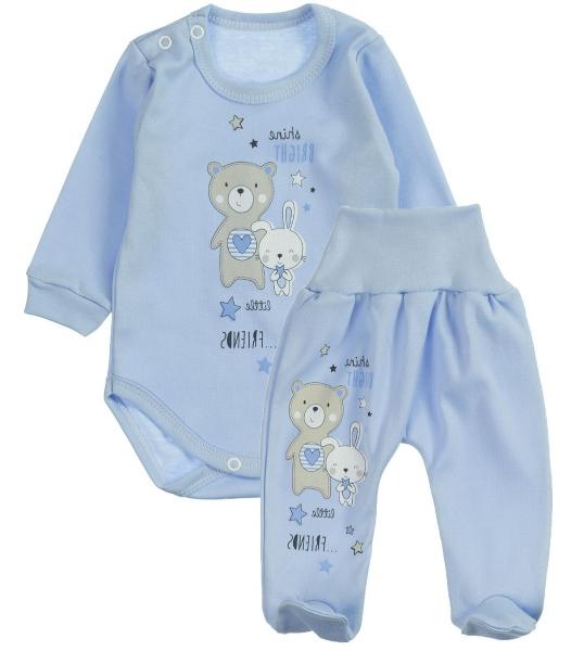 MBaby 2-dílná kojenecká sada Shine Bright - modrá, vel. 68