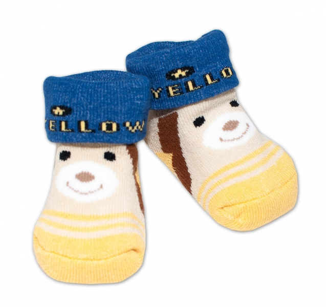 Kojenecké ponožky, 0 - 6 měsíců, Bobo Baby - Medvídek
