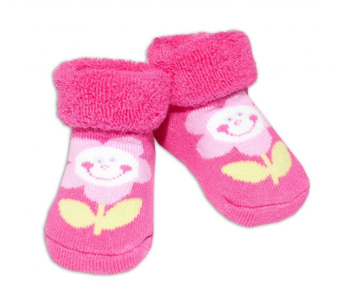 Kojenecké ponožky, 0 - 6 měsíců, Bobo Baby - Květinka