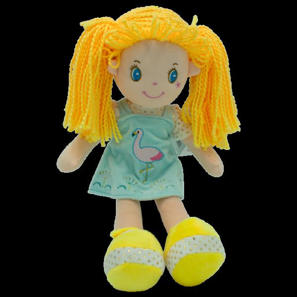 Hadrová panenka Barborka, Tulilo, 35 cm - žlutá